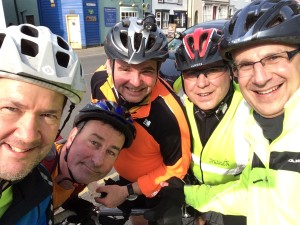 Several of the Wheezy Geeezers on a recent run to Sudbury. We're not quite team Sky....