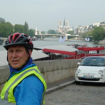 Leaving Paris along the Seine