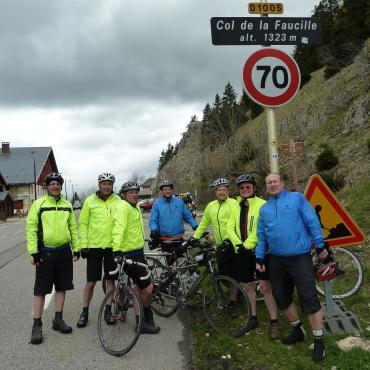 We made it Col de la Faucille 1323 metres.