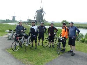 Cycling at Kinderdijk