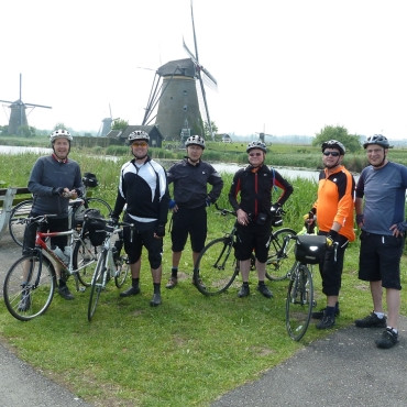 A land made for cycling: Kinderdijk, Holland