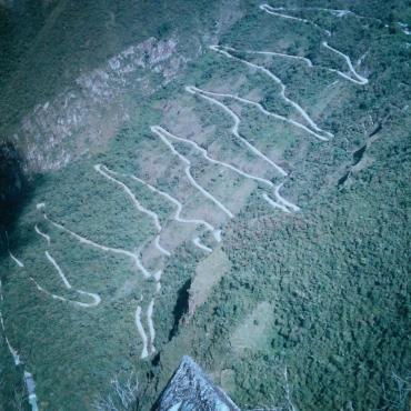 The road up to Machu Picchu: Peru 1998