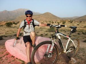 Mountain biking in the High Atlas Mountains, Morocco.