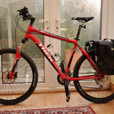 The Trek Buckaroo. How not to set up your mountain bike for riding the SDW!