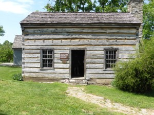 The Lincoln Cabin - a replica  of the home in which Lincoln's grandmother lived.