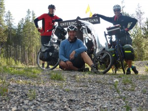 Montana - our eight state - from left to right Paul, Mike and Terry